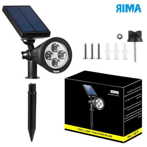 AMIR Spotlights Upgraded, Waterproof 4 Solar Security Lights,