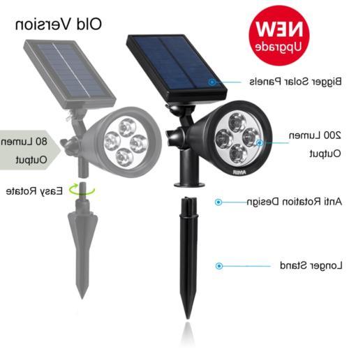 AMIR Spotlights Upgraded, LED Solar Lights,