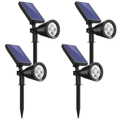 solar spotlights outdoor upgraded waterproof 4 led