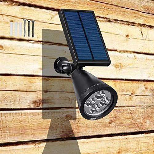 AMIR 2 1 Solar Solar Garden Lights Outdoor, 4 LED Lighting, Adjustable with Auto On/ Pool Patio