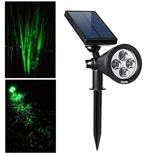 AMIR Outdoor Upgraded, LED Solar Lights, Adjustable Solar Garden with Auto Yard Patio