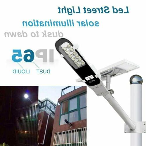 Solar Street Light 12 SMD LEDs Outdoor Pathway Parking Lot