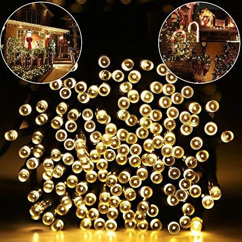 Solar Lights 115ft 300 Lights, Ambiance Outdoor, Patio, Home, Holiday, Christmas Party, Tree