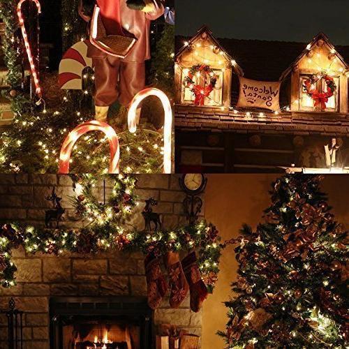 Solar Lights 115ft 300 Ambiance lights Patio, Holiday, Christmas Xmas Tree Charge