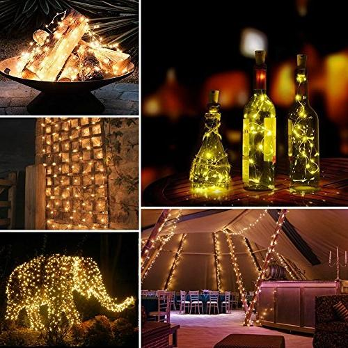 Solar String 2 Pack 100 Fairy 33 8 Modes Copper Wire Lights Waterproof Lights for Patio Gate Yard Party Indoor Bedroom Warm by