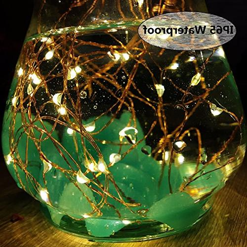 Solar String Lights, Pack 100 Fairy 8 Lights Waterproof Lights for Gate Indoor Bedroom Warm by LiyanQ