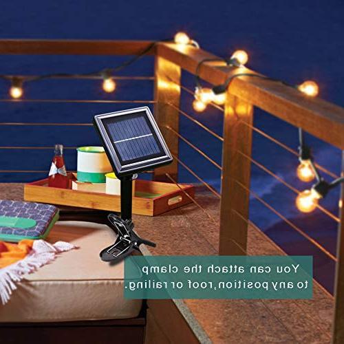 addlon Solar LED Outdoor String Vintage Edison Plastic Waterproof Café Light for Porch