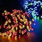 Aglaia Solar String Lights Multi-Color Dimmable, 33ft 100LED