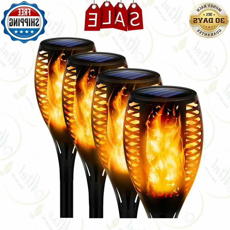 solar torch light dancing flickering flame lamp