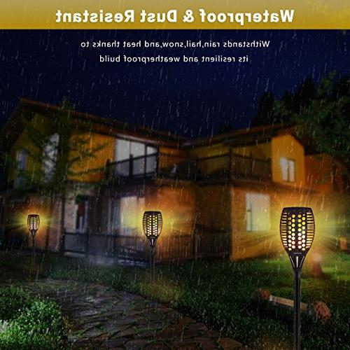 Aityvert Waterproof Flickering Torches Dancing Decoration Lighting Dusk Dawn Light for Deck Yard Packs