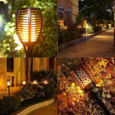 Solar Torch Lights Balight Dancing 96 LED Flickering Tiki