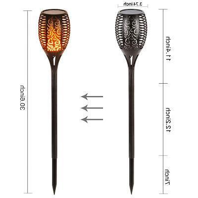 Solar Torch Lights LED Flickering