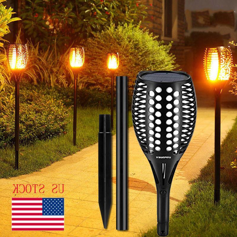 Solar Torch Lights Balight LED Flickering Torches