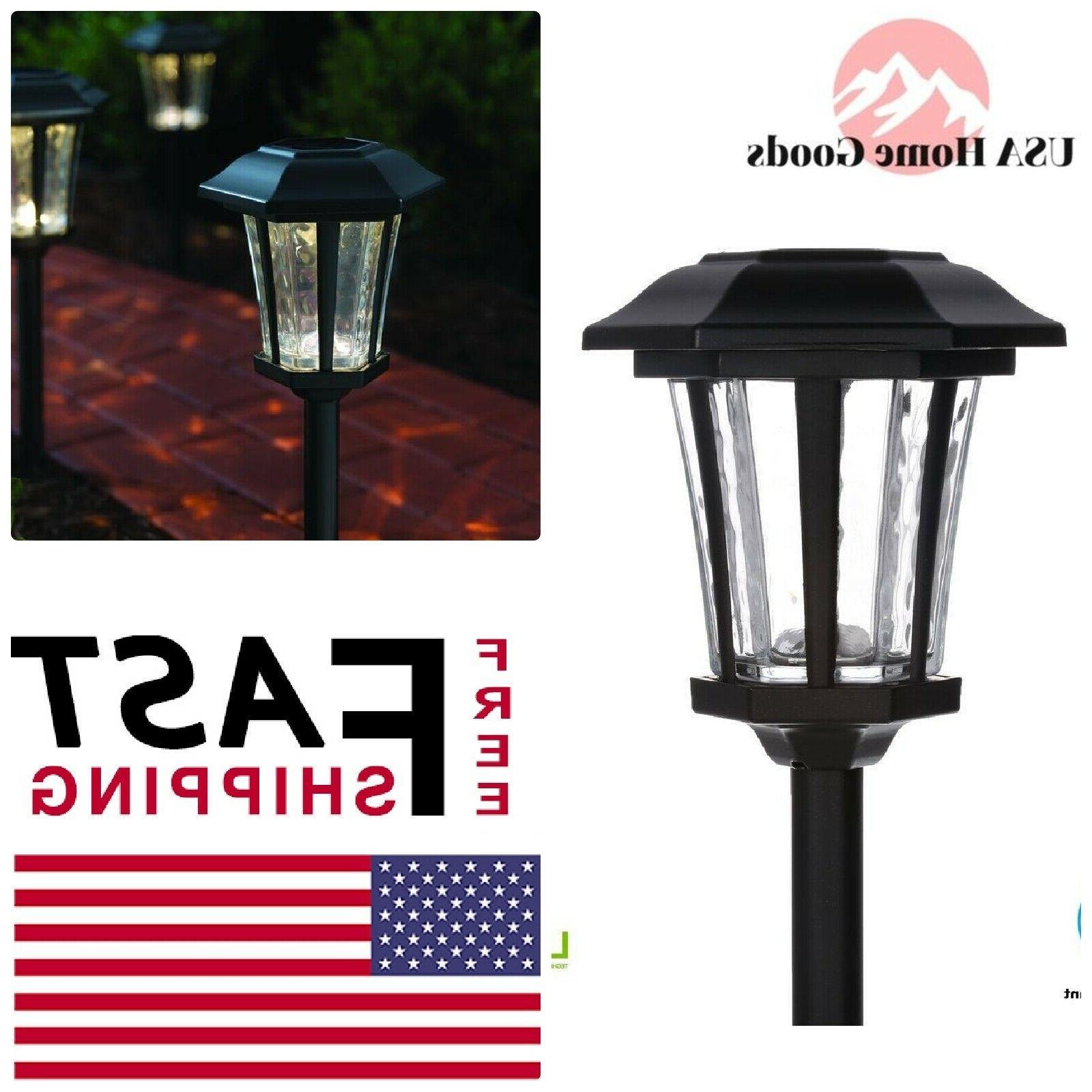 "Hampton Bay Solar ""Traditional Style"" LED Path Light Set - 4"