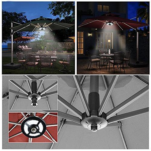 Solar Outdoor,AVEKI Patio Umbrella Solar Lights 36 Bright Pole for Camping Tent Garden