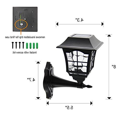 Maggift 6 Lumens Wall Lantern Outdoor Wall Sconce Light Fixture with Mount