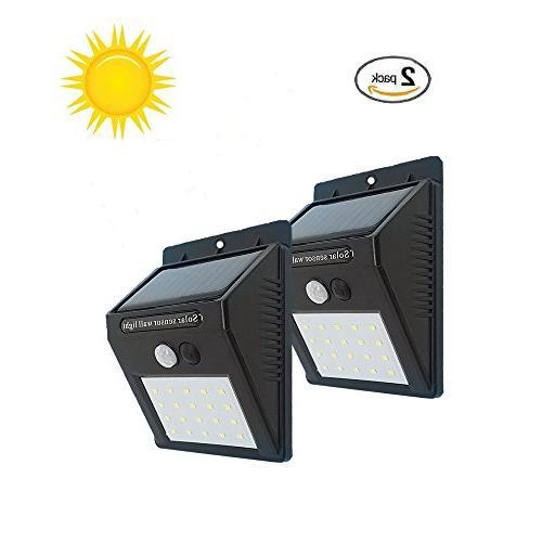 solar wall lights 20 leds
