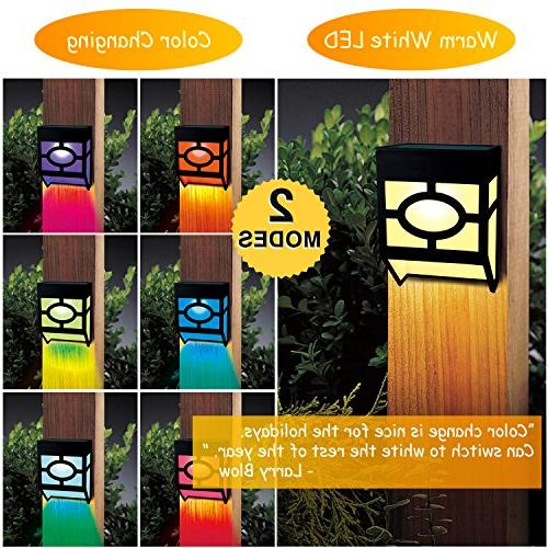 Outdoor, 2 Led Waterproof Lighting for Deck, Fence, Door, Landscape, and Driveway Path,Warm Changing,Pack