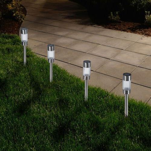 Pure Garden Outdoor Solar Yard Pathway Lights, Set of 6