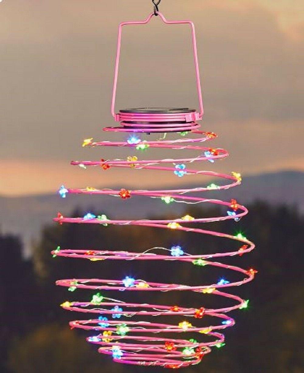 spiral solar beehive lights outdoor yard light