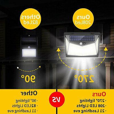 208 LED Solar Lights Wall Lamp Outdoor