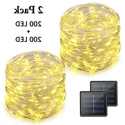 string lights 200 solar powered