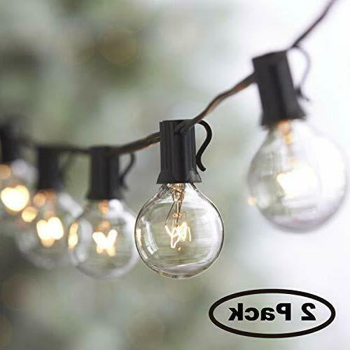 50FT String Outdoor Waterproof Globe Light Bulbs Vintage Bac