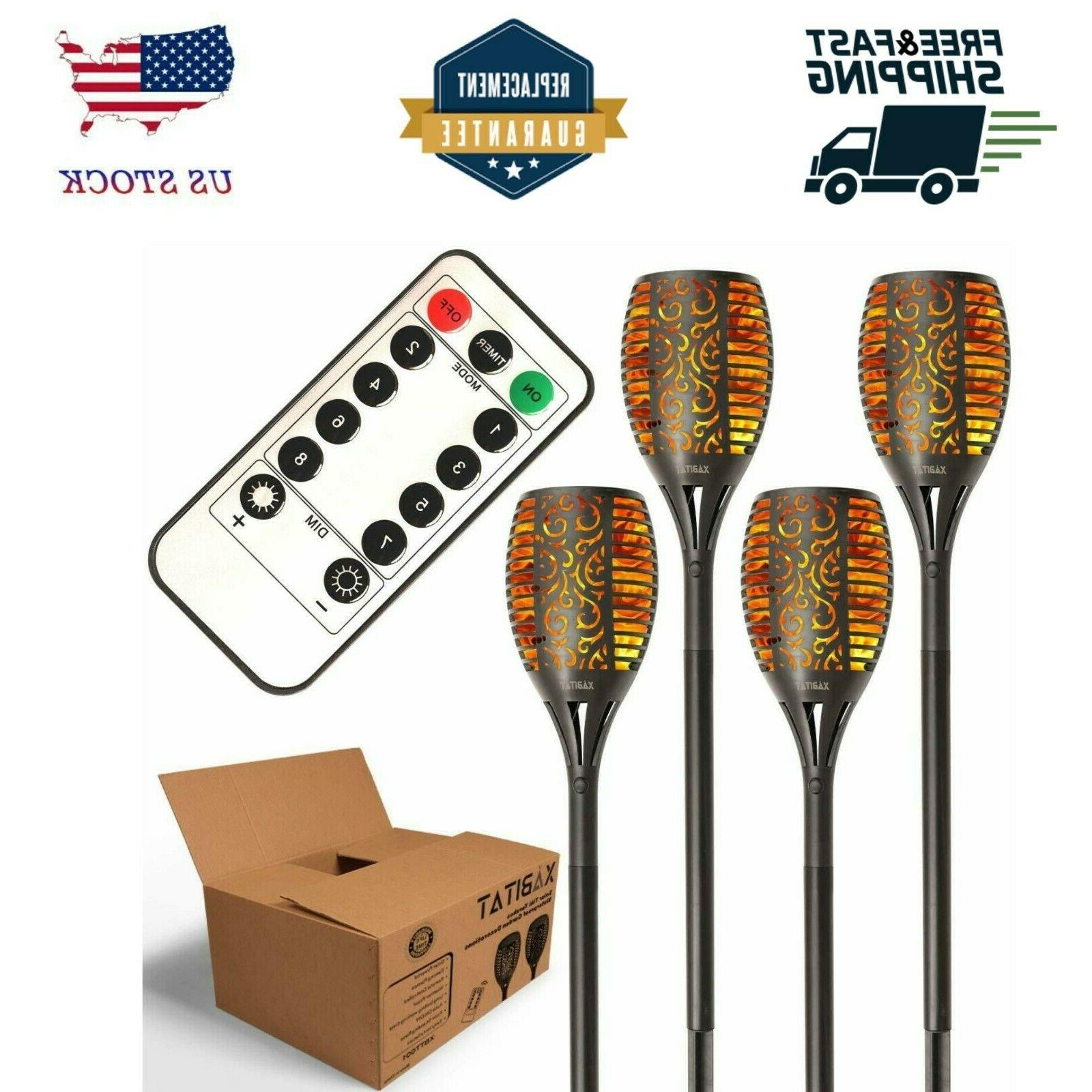 tiki torches solar lights remote controlled outdoor
