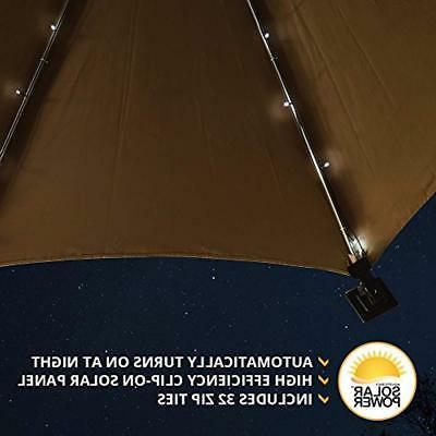 Umbrella Solar - Cool Total LEDs, 8 9 Per