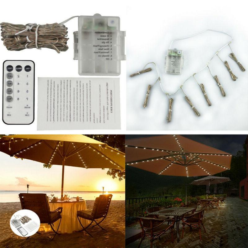 umbrella solar string lights decorative outdoor beach