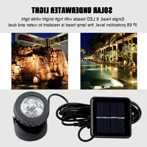 Underwater Lamps 6/12/18 LEDs Light Solar Powered Projector