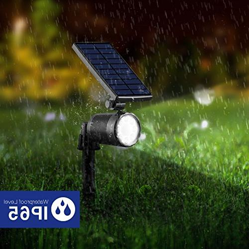 InnoGear 2-in-1 Motion Sensor Solar Lights Landscape Lighting Spotlight Wall Light Security Lighting with 4 Auto On/ Pathway Deck, Pack of 2