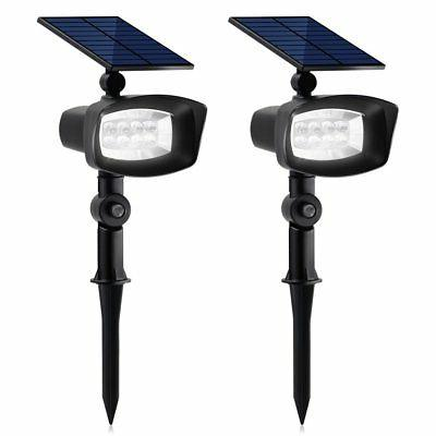 upgraded 8 led solar lights with white