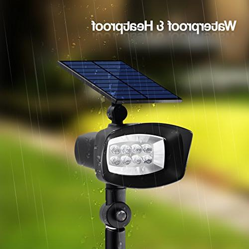 InnoGear Upgraded 8 Solar Lights and Through Outdoor Spotlight Lighting Sensing On/Off Garden Pool Pack of