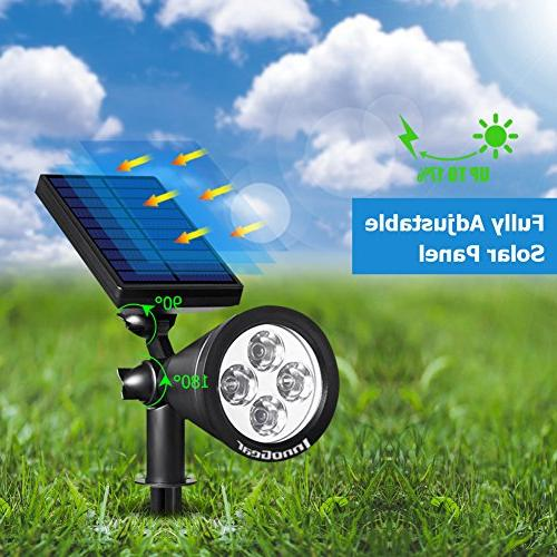InnoGear Solar Lights 2-in-1 Waterproof Landscape Lighting Spotlight Auto for Garden Pathway of