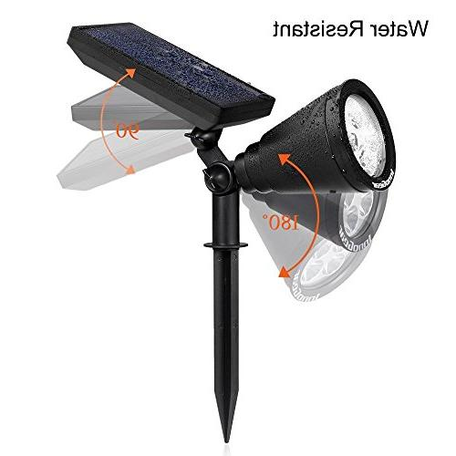 InnoGear Solar Lights Lighting Spotlight Wall Light Auto Garden Driveway of 2