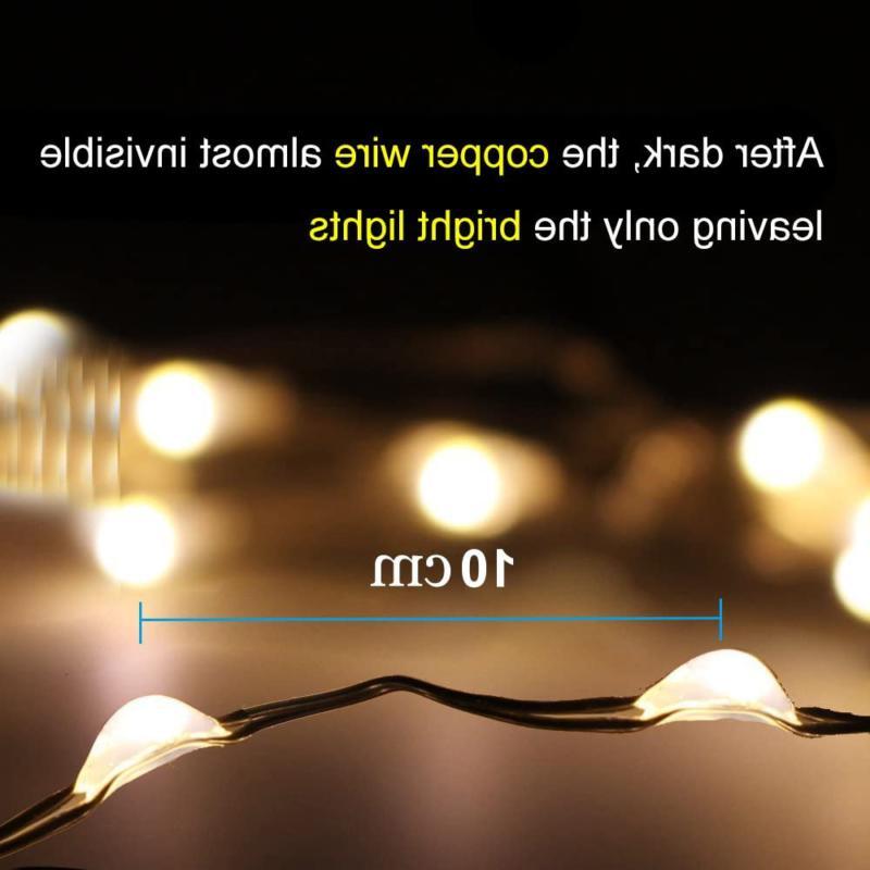Solar Powered String Mini 100 LED Copper Wire Lights, Fair