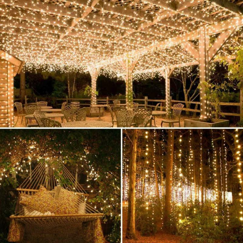 AMIR Upgraded Solar String Lights, LED Copper Fair