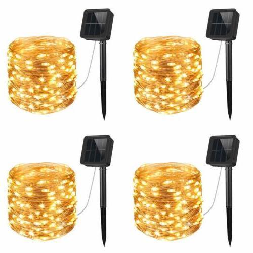 upgraded solar string lights 4 pack 33ft