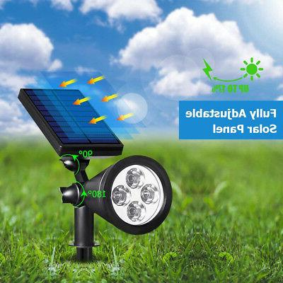URPOWER 4LED Waterproof Outdoor Garden Solar Spotlights land