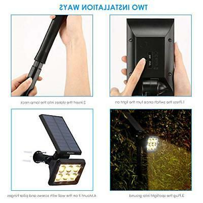 URPOWER Solar Lights Outdoor Upgraded, 2-in-1 Waterproof Solar Lights
