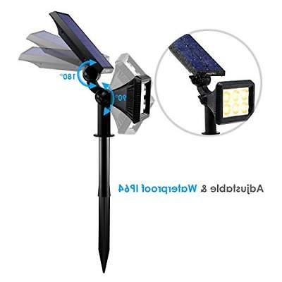 URPOWER Solar Upgraded, 2-in-1 Waterproof Solar Lights