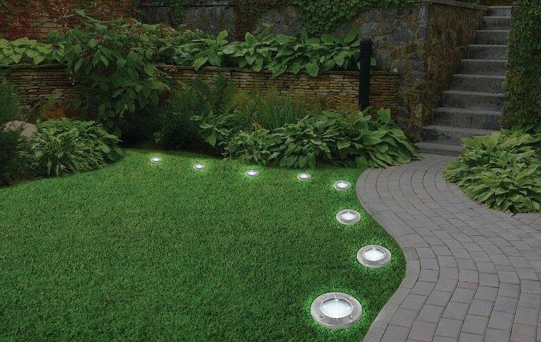 US 4X Solar Power LED Lights Light Waterproof