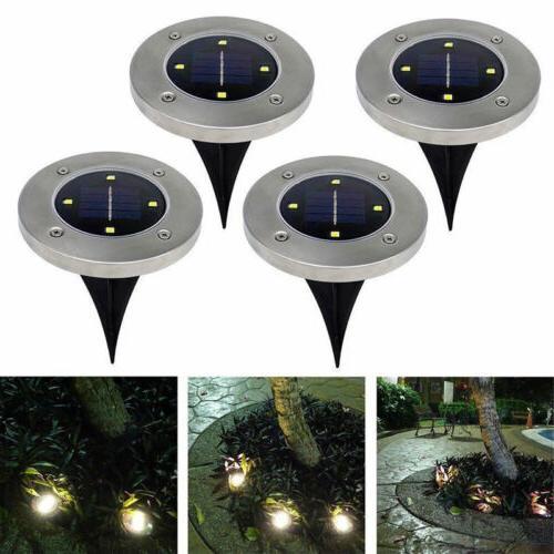 us 4x disk lights solar power led