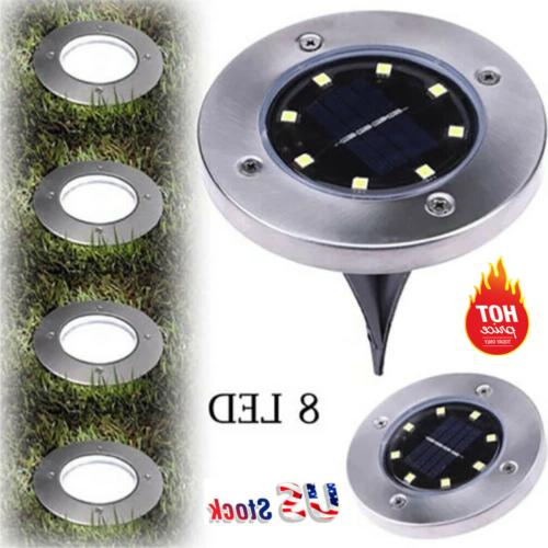 US! 8LEDs Disk Lights In-Ground Lamp