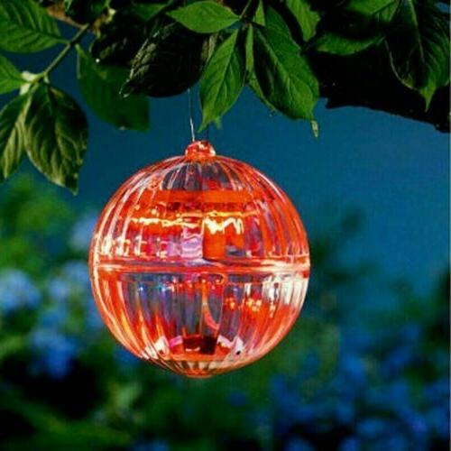 US Solar LED Floating Lights Lamp Rotating Outdoor