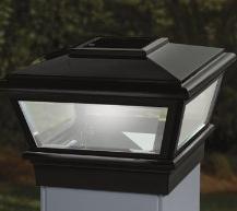 4x4 Deckorators VersaCap Solar Post Cap Light - Black