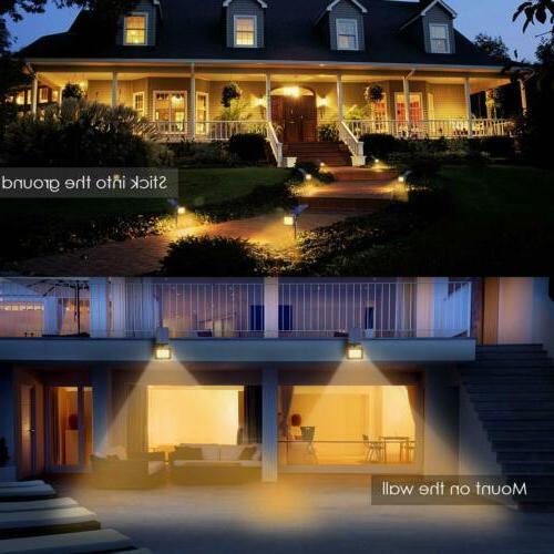 URPOWER Warm White Lights 2-in-1 Solar Lights