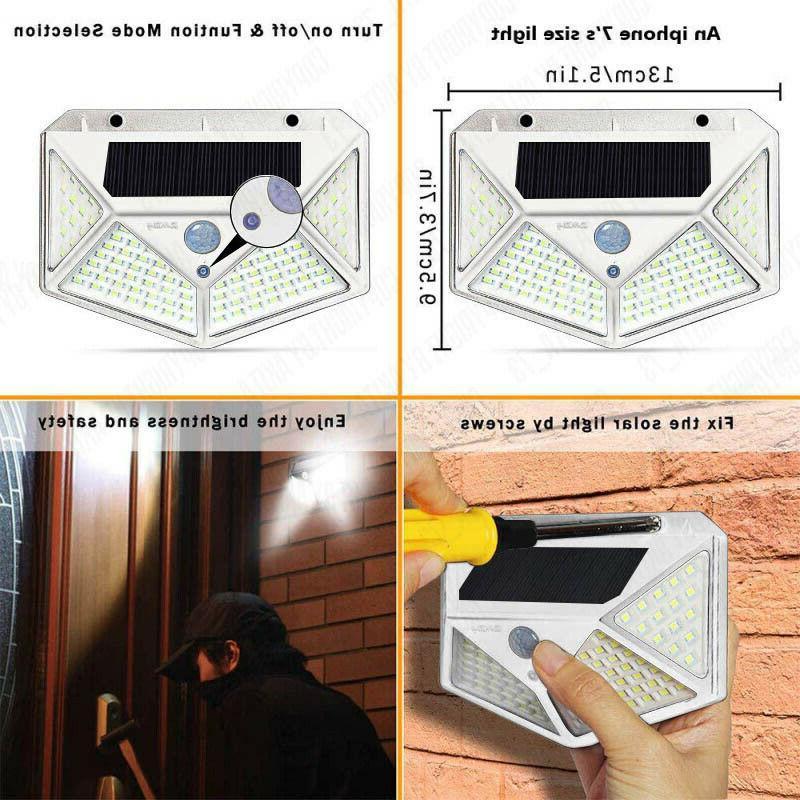 Waterproof 100 Motion Sensor Outdoor Light