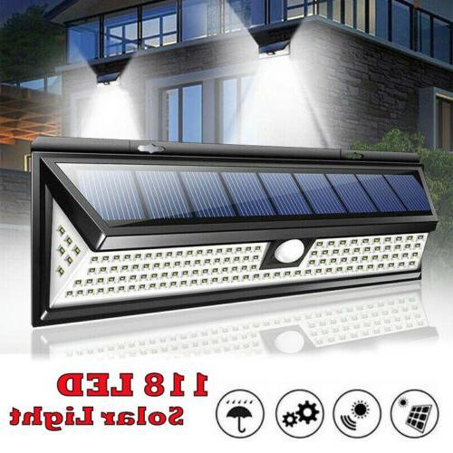 waterproof 118 led solar lamp outdoor garden